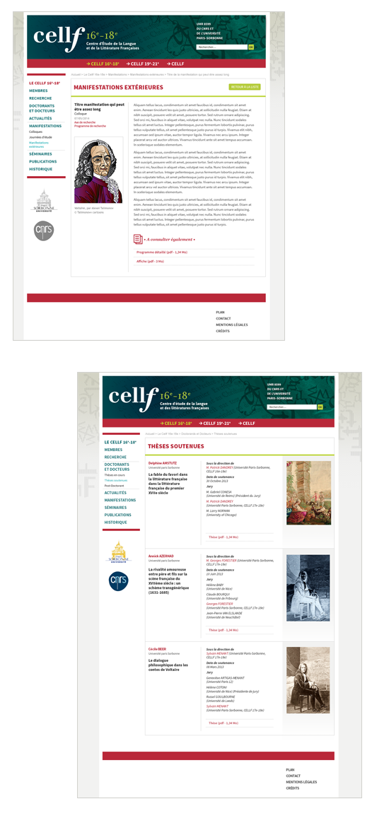 Cellf - site web
