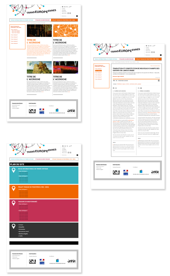 Transeuropéennes, site web