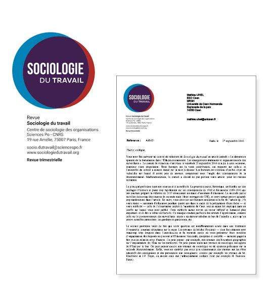 papeterie sociologie du travail